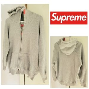 Supreme Full Zip Hoodie Sweatshirt Size Large